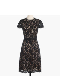 J.Crew Collection Lace Fit And Flare Dress