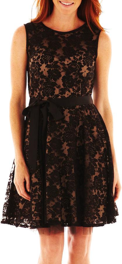 Jcpenney Dj Jaz Dj Jaz Sleeveless Lace Fit And Flare Dress Where