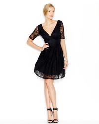 Betsey Johnson Empire Lace Flare Dress