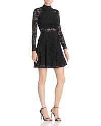 Aqua Lace Fit And Flare Dress