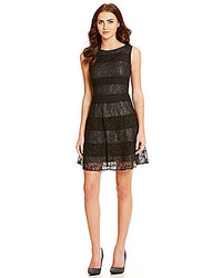Jessica Simpson Lace Striped Party Dress