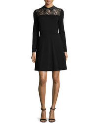 Erin Fetherston Lace Yoke Fit And Flare Shirtdress
