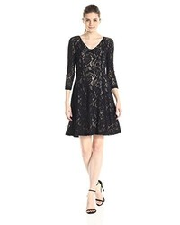 NYDJ Amelia Lace Fit And Flare Dress With Slimming Fit Solution