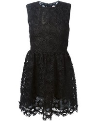 RED Valentino Flared Lace Trim Dress