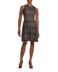 Tommy Hilfiger Sleeveless Lace Fit And Flare Dress