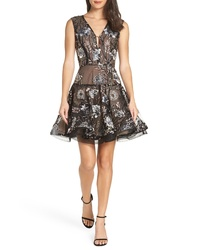 BRONX AND BANCO Tiara Sequined Mesh Party Dress