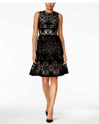 Tommy Hilfiger Velvet Lace Fit Flare Dress A Macys Style