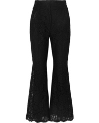 Dolce & Gabbana Cropped Guipure Lace Flared Pants