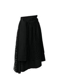 Yohji Yamamoto Vintage Eyelet Lace Circle Skirt
