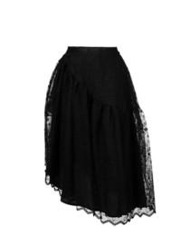 Simone Rocha Floral Embroidered Midi Skirt