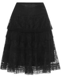 Nina Ricci Tiered Lace Skirt