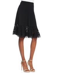 Tadashi Lace Hem Full Skirt