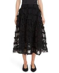 Simone Rocha Tinsel Check Tulle Skirt