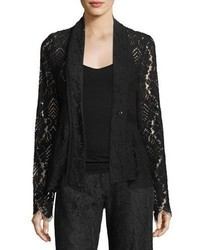 Genevieve one button lace jacket medium 5146704