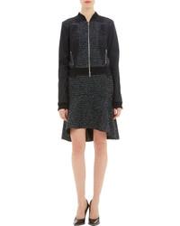 Nina Ricci Lace Appliqu Tweed Bomber Jacket