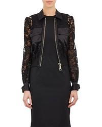 Givenchy Lace Bomber Jacket Black