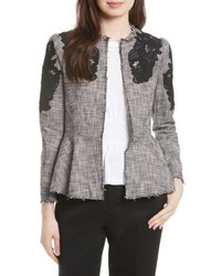 Lace inset tweed jacket medium 4914053