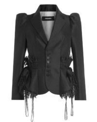 Dsquared2 Wool Jacket With Lace