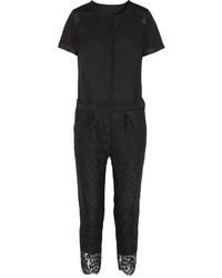 J.Crew Collection Crepe And Lace Jumpsuit