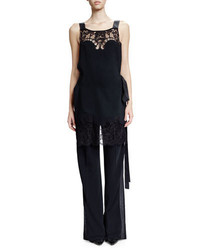 Givenchy Lace Inset Backless Jumpsuit Black