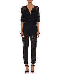 Maison Mayle Lace Button Front Jumpsuit