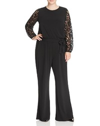 MICHAEL Michael Kors Michl Michl Kors Plus Lace Sleeve Jumpsuit