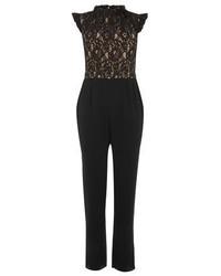 Oasis Ruffle Neck Lace Jumpsuit
