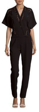 Iro . Jeans Solid Elbow Length Sleeve Jumpsuit