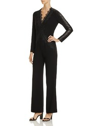 Elie Tahari Willow Lace Detail Jumpsuit