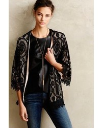 Anthropologie Sunday In Brooklyn Laced Kimono Cardigan
