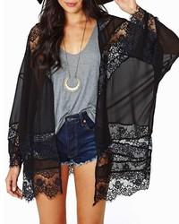 ChicNova Black Split Joint Kimono