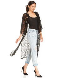MinkPink Dance With Me Kimono In Black Xs S Ml