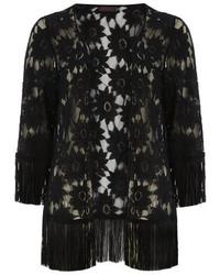 Dorothy Perkins Petals Black Lace Kimono