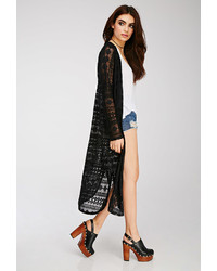 Forever 21 Geo Patterned Lace Kimono