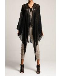 Muche Et Muchette Black Lace Kimono