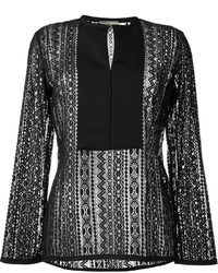 Lanvin Pattern Lace Blouse