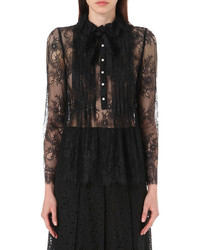 Philosophy Di Lorenzo Serafini Pleated Floral Lace Blouse