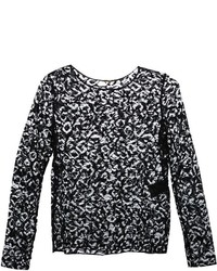 Saint Laurent Floral Lace Blouse