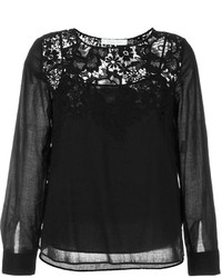 See by Chloe See By Chlo Guipure Lace Panel Blouse