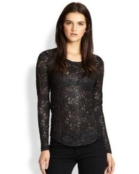 Generation Love Allover Lace Long Sleeve Tee