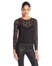 Trina Turk Anita Long Sleeve Lace Top