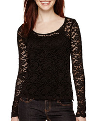 Decree Long Sleeve Lace Top