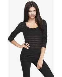 Express Scoop Neck Lace Stripe Tee