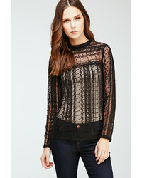 Forever 21 Embroidered Lace Blouse