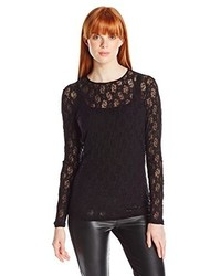 Only Hearts Club Only Hearts Stretch Lace Long Sleeve Boyfriend Pocket Tee Lined