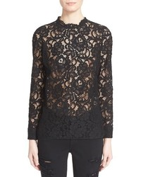 Saint Laurent Sheer Lace Blouse