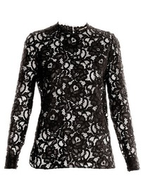 Saint Laurent Sheer Lace Top