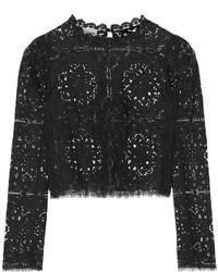 Temperley London Nomi Lace Top Black