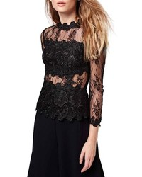 Topshop Floral Lace Top