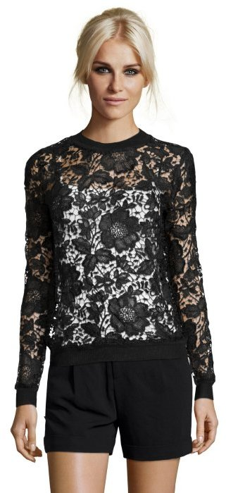Wyatt Whisper White Floral Lace Long Sleeve Top | Where to buy ...